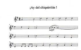 Partitura del Villancico Ay del Chiquirritín