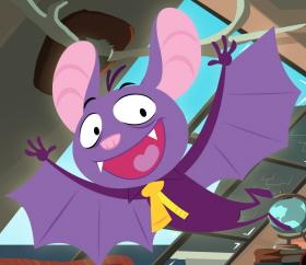 Bat Pat es un murciélago miedoso y parlanchín