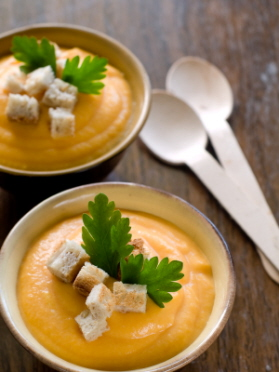 La crema de zanahorias es rica en vitaminas A