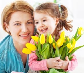 Regalos con flores en el día de la madre