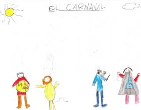 Dibujos con disfraces de Carnaval