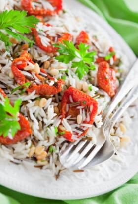 Ensalada de arroz para niños