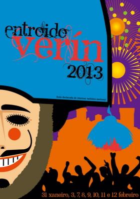 Cartel del Carnaval, que en gallego se llama Entroido, de Verín 2013