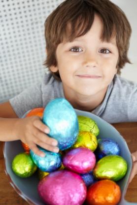 Los huevos de chocolate son tradicionales de Pascua