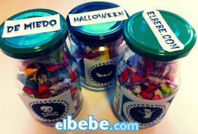 Imprimibles de Halloween para decorar tarros