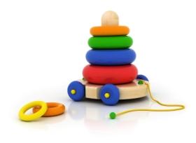 A los niños de 1 a 2 años les encantan los juguetes de encajar