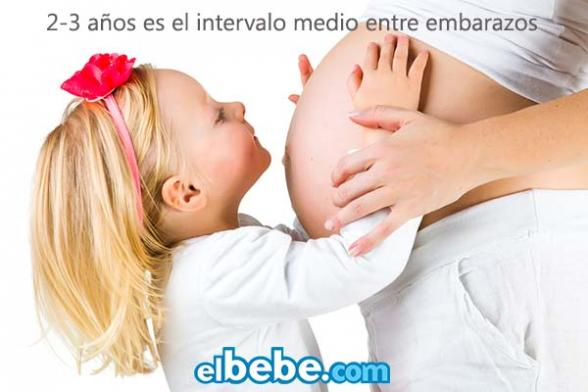 El intervalo medio entre embarazos es de 2 - 3 años   Elbebe.com