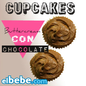 Cupcakes con Buttercream de Chocolate en Elbebe.com