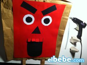 Máscara monstruosa para Halloween
