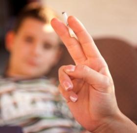 Hijos de madres fumadoras