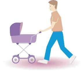Padres cuidan de los niños