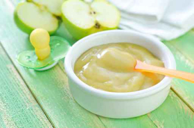 Puré de manzanas para bebés Elbebe.com