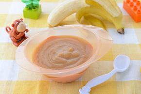 Papilla de plátano para bebés