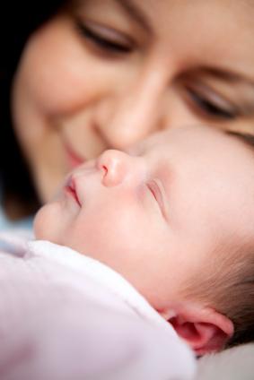 Bebé recién nacido en el hospital