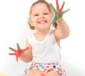 Pintura casera para niños
