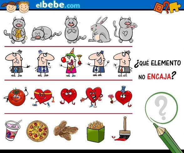 Descubre qué elemento no encaja | Elbebe.com