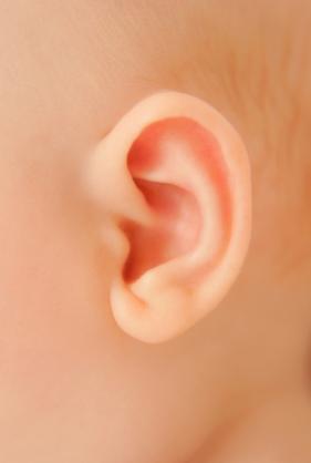 Lo que oye el bebé y oreja