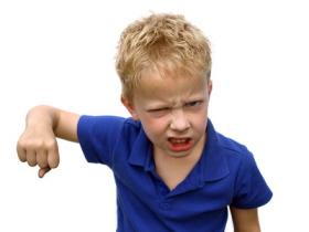 Algunos niños reaccionan de forma agresiva cuando tienen una rabieta