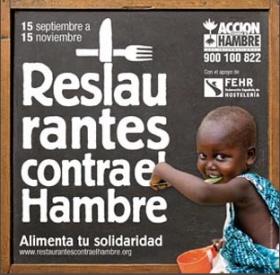 Súmate a la campaña restaurantes contra el hambre para combatir la desnutrición