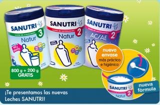 Leches para bebés y niños Sanutri