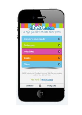Elbebe.com en el móvil