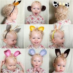 Disfraces para bebés con diademas de animales