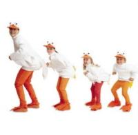 Disfraz de pato para toda la familia